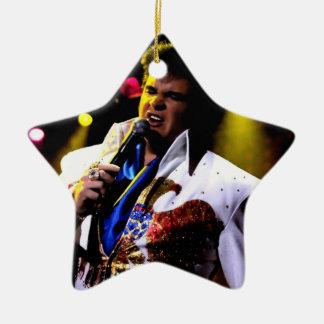 ¡Jesse y ornamento del navidad de Tarie Aron! Adorno Navideño De Cerámica En Forma De Estrella