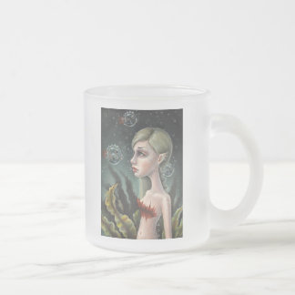 Jessea and Double Bubbles Frosted Glass Coffee Mug