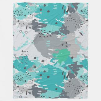 Jessee's Abstract Experiment #001 Fleece Blanket