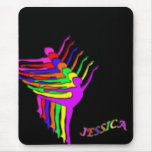 Jessica -Colorful Dancers Mouse Pad