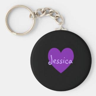Jessica en púrpura llavero personalizado