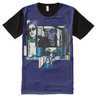 Jessica Jones Comic Panels All-Over-Print T-Shirt
