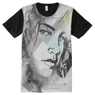 Jessica Jones Face Graphic All-Over-Print Shirt