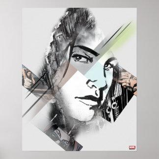 Jessica Jones Face Graphic Poster