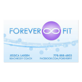 Jessica Larsen - Forever Fit Double-Sided Standard Business Cards (Pack Of 100)