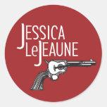 Jessica Le Jeaune Sticker Pegatina Redonda