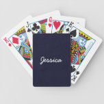 JESSICA Midnight Blue Custom Name Gift Collection Bicycle Poker Deck