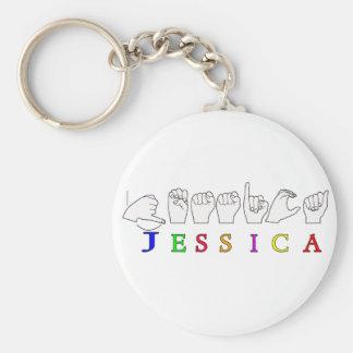 JESSICA NAME SIGN ASL FINGERSPELLED KEYCHAIN