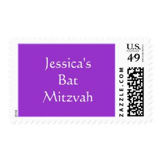 Jessica s Bat Mitzvah Stamp
