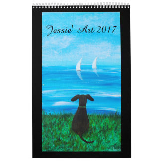 Jessie' Art Calendar 2017 - Animals (Paintings)
