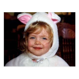 Jessie in Her White Kitten Halloween Costume Postcard