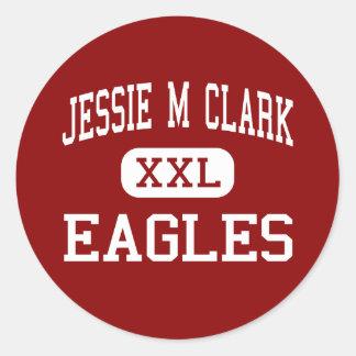 Jessie M Clark - Eagles - centro - Lexington Pegatina Redonda