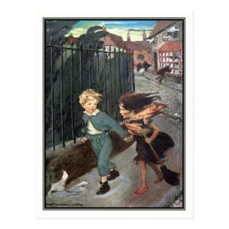 Jessie Willcox Smith - Diamond and the Little Girl Postcard