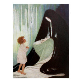 Jessie Willcox Smith - Diamond and the North Wind Poster