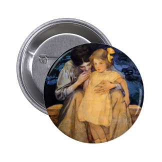 Jessie Willcox Smith Mother and Child Mother's Day Pinback Button