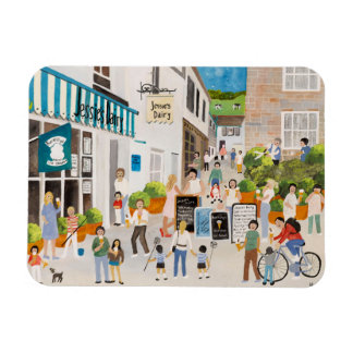 Jessies Dairy in Mousehole Rectangular Photo Magnet