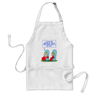 jester april fools day off king adult apron