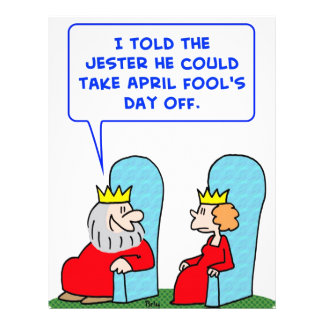 jester april fools day off king letterhead