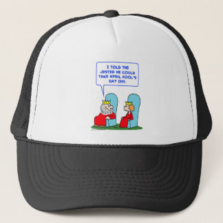 jester april fools day off king trucker hat