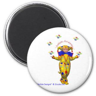 Jester autism awareness magnet