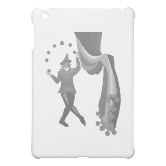 Jester behind a curtain case for the iPad mini