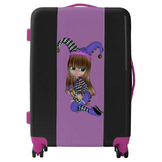 Jester Blond Girl Medium Sized Luggage Suitcase