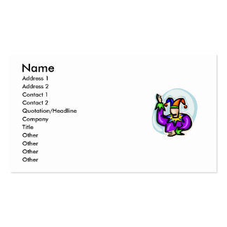 Jester Double-Sided Standard Business Cards (Pack Of 100)