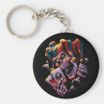 Jester Card Player Keychain
