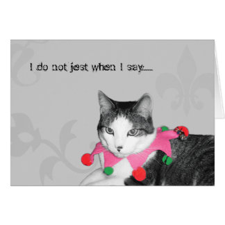 Jester Cat Greeting Card