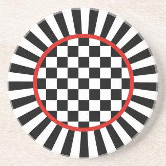 Jester Check Sandstone Coaster
