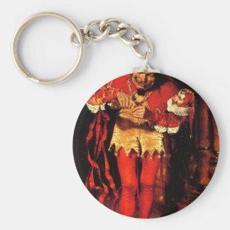 jester-clip-art-2 keychain