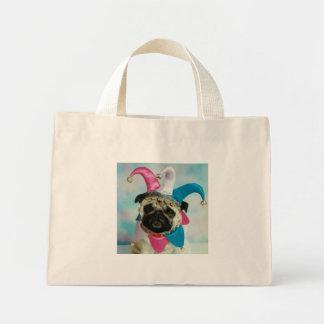 Jester Clown Pug Tote Bag