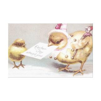 Jester Easter Chick Invitation Canvas Print