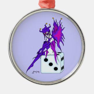 Jester Fairy Metal Ornament