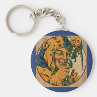 jester from the 1920s basic round button keychain
