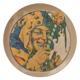 jester from the 1920s dinner plate