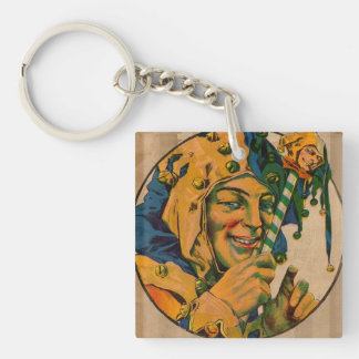 jester from the 1920s Double-Sided square acrylic keychain