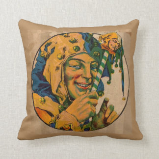 jester from the 1920s pillow