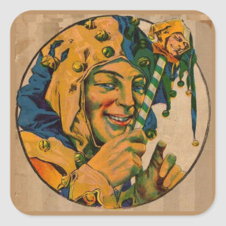 jester from the 1920s square sticker