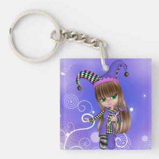 Jester Girl Keychain