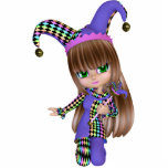 Jester Girl Magnet Cut Out