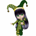 Jester Girl Magnet Photo Cut Outs