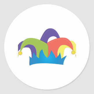 Jester Hat Classic Round Sticker