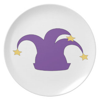Jester Hat on Clean Background Dinner Plate