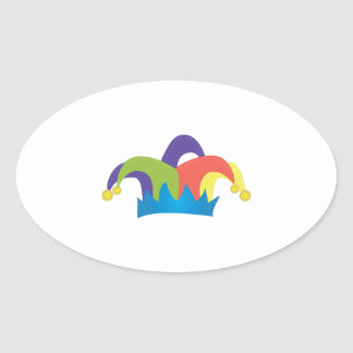 Jester Hat Oval Sticker