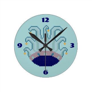 Jester Hat Round Clock