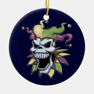Jester II Ceramic Ornament