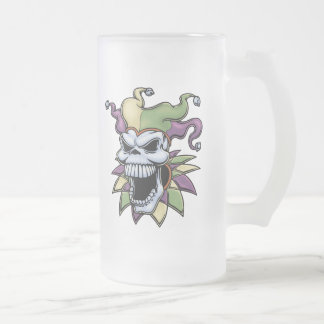 Jester II Frosted Glass Beer Mug
