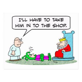 jester king doctor sick shop postcard