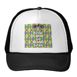 Jester Mask Keep Calm and Mardi Gras Hats